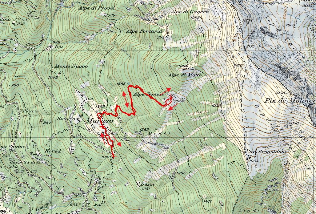 Mappa con traccia